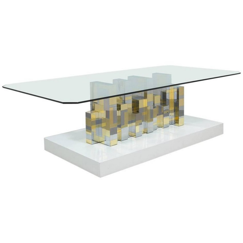 Amazing Cubist Inspired Modern Dining Tables : 12 Paul Evans Cityscape Pedestal Dining Table Base 1970s from moderndiningtables.net size 850 x 850 jpeg 34kB