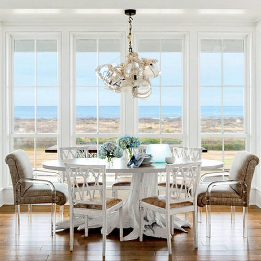 Beach style dining room designs for Beach dining table
