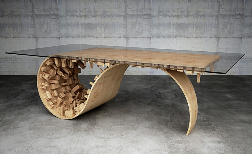 Modern Dining Table Modern Dining Table The Inception-Inspired Modern Dining Table By Telios Mousarris 2 mousarris wave city dining table designboom 02
