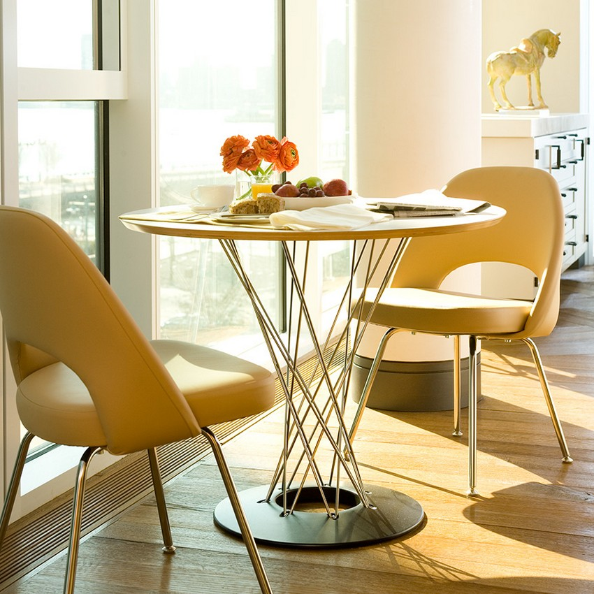 round dining table designs round dining table designs Round Dining Table designs for your small dining room 2 noguchi cyclonet table saarinen executive chair 6272 z