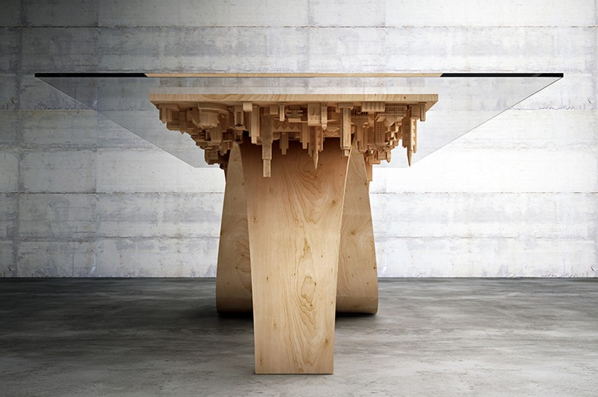 Modern Dining Table Modern Dining Table The Inception-Inspired Modern Dining Table By Telios Mousarris 3 mousarris wave city dining table designboom 04