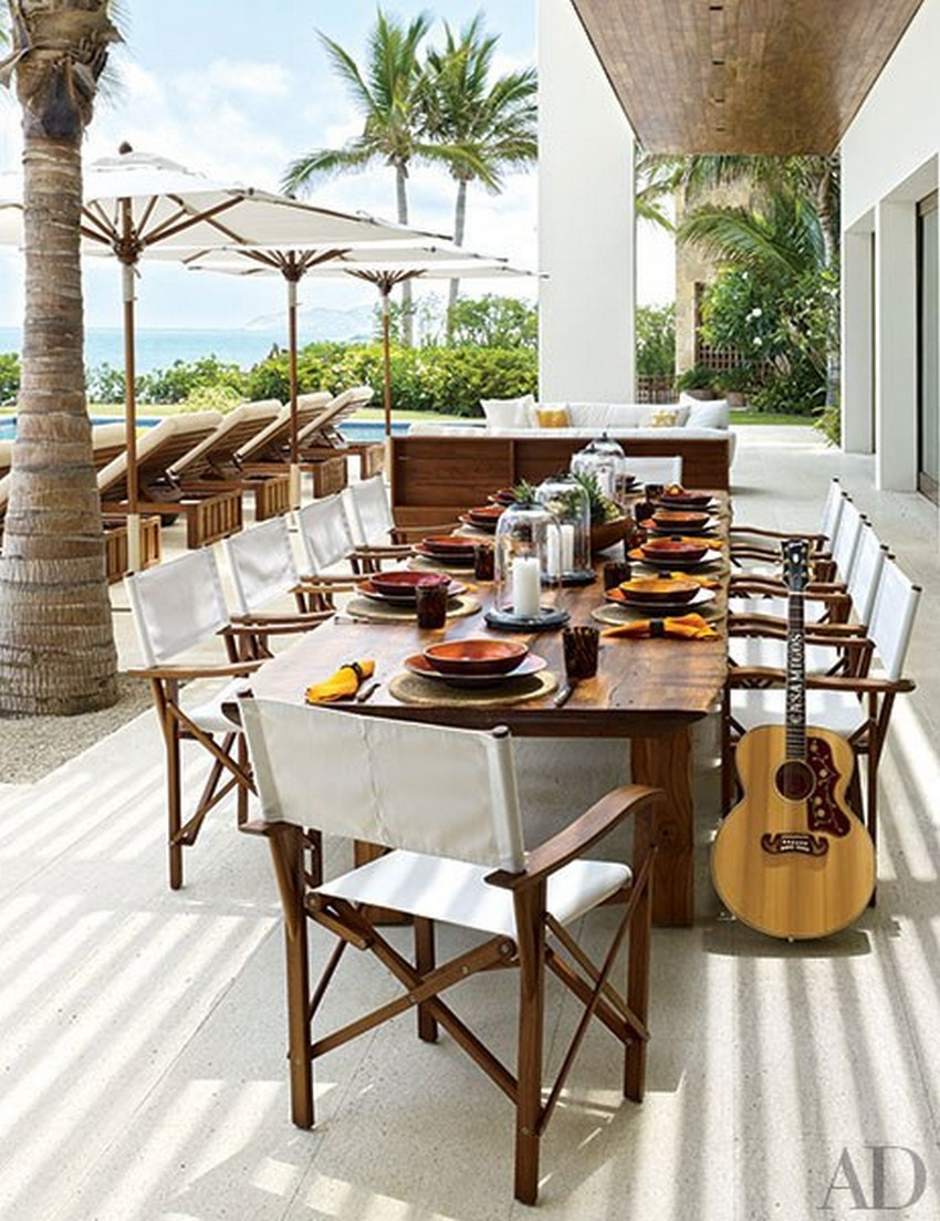 dining set design Dining Set Design 25 Amazing Outdoor Dining Set Design Ideas 4 Amazing outdoor dining set design ideas cindy crawford rande gerber