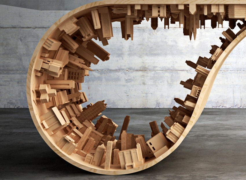 Modern Dining Table Modern Dining Table The Inception-Inspired Modern Dining Table By Telios Mousarris 4mousarris wave city dining table designboom 05
