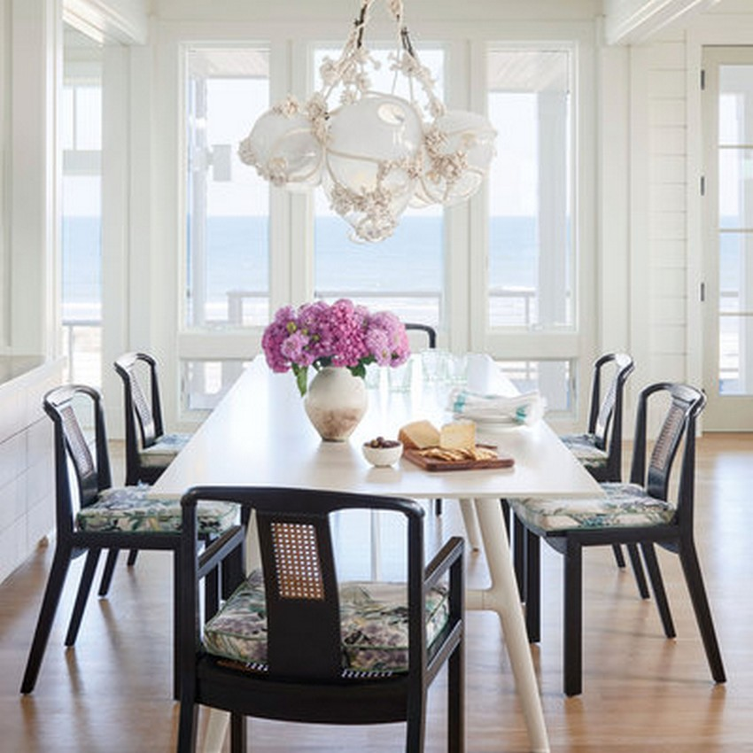 beach style dining room designs. Black Bedroom Furniture Sets. Home Design Ideas
