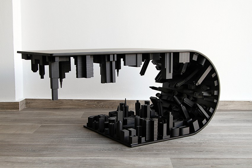 modern dining table Modern Dining Table The Inception-Inspired Modern Dining Table By Telios Mousarris 7 stelios mousarris wave city black designboom 04