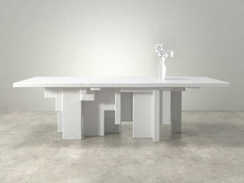 modern dining tables Amazing Cubist-Inspired Modern Dining Tables 9