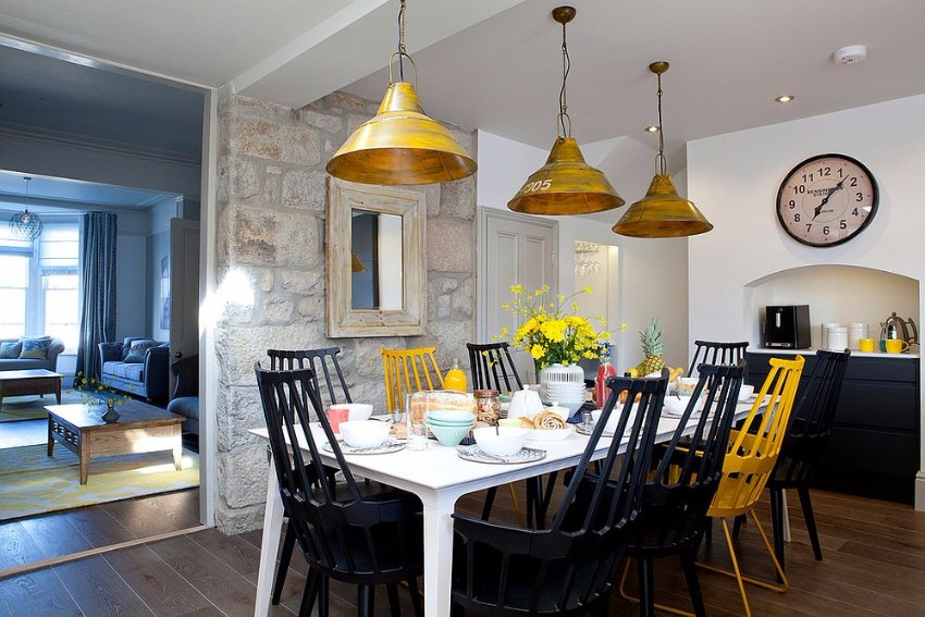 Striking Dining Rooms with Stone Walls dining rooms Striking Dining Rooms with Stone Walls Striking Dining Rooms with Stone Walls 1