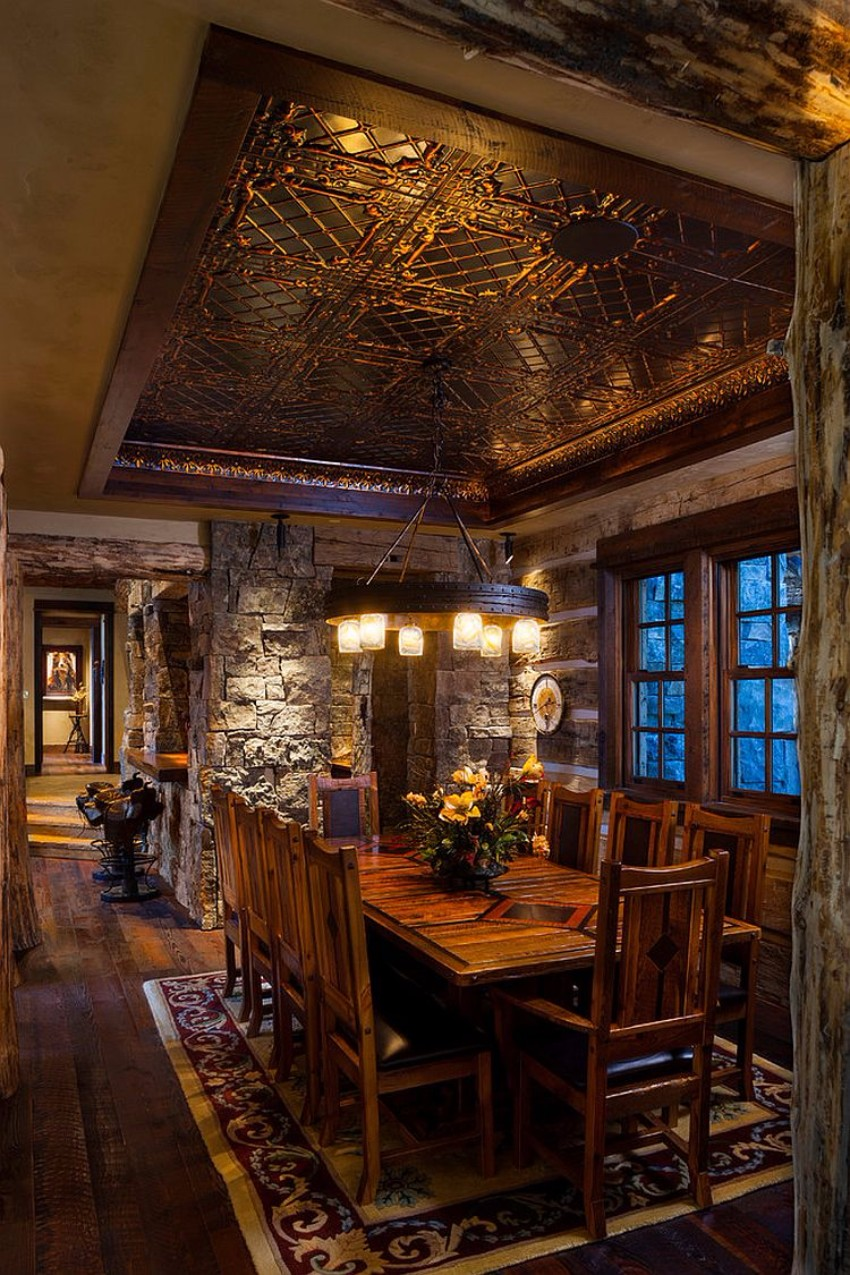 dining rooms Striking Dining Rooms with Stone Walls Striking Dining Rooms with Stone Walls 7