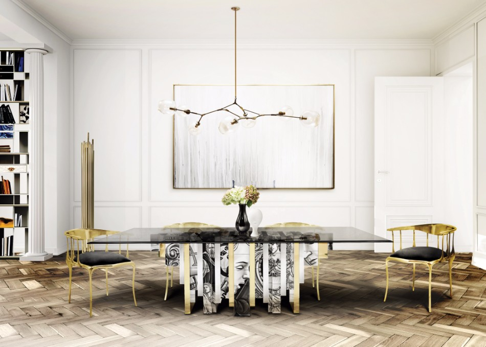 10 Beautiful Glass Dining Tables (Part II) | www.bocadolobo.com #glass #moderndiningtables #exclusivedesign #diningroom #thediningroom #diningarea #diningareadesign #luxurybrands @moderndiningtables glass dining tables 10 Beautiful Glass Dining Tables (Part II) 7 Modern Dining Tables By Boca do Lobo   s Limited Edition Collection 1 1