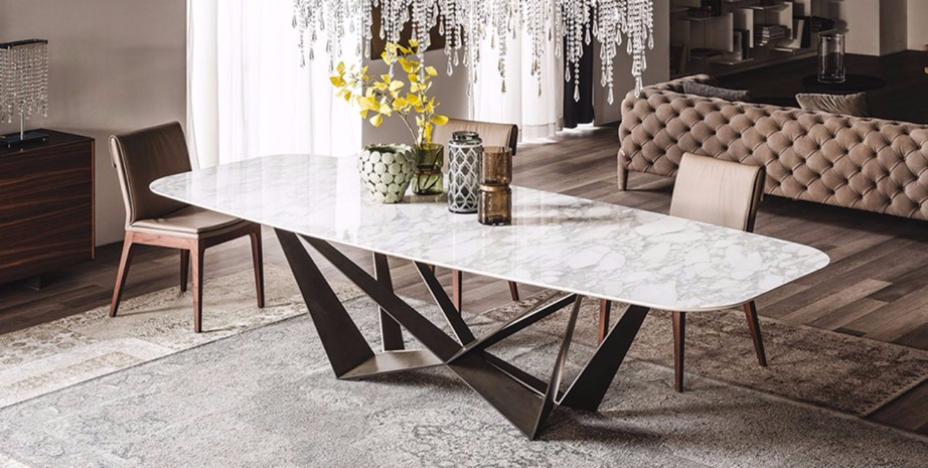 Dining table design trends for this fall winter for Trendy dining tables