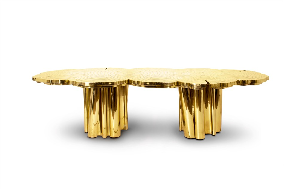 The Luxury Dining Table In The Saadiyat Private Residence | www.bocadolobo.com #moderndiningtables #diningtables #diningarea #diningroom #thediningroom #luxurious #luxury #gold #exclusivedesign #interiordesign #topinteriordesigners #bestinteriordesigners #famousinteriordesigners @moderndiningtables luxury dining table The Luxury Dining Table In The Saadiyat Private Residence The Luxury Dining Table In The Saadiyat Private Residence 4