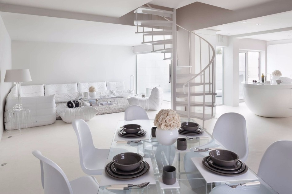 10 Brilliant Ideas Of All-White Dining Areas | www.bocadolobo.com #moderndiningtables #diningarea #thediningarea #diningareadesign #white #luxury #allwhite #interiordesign #homedecorideas @moderndiningtables Dining Room 10 Brilliant Ideas Of All-White Dining Rooms 10 Brilliant Ideas Of All White Dining Rooms 3