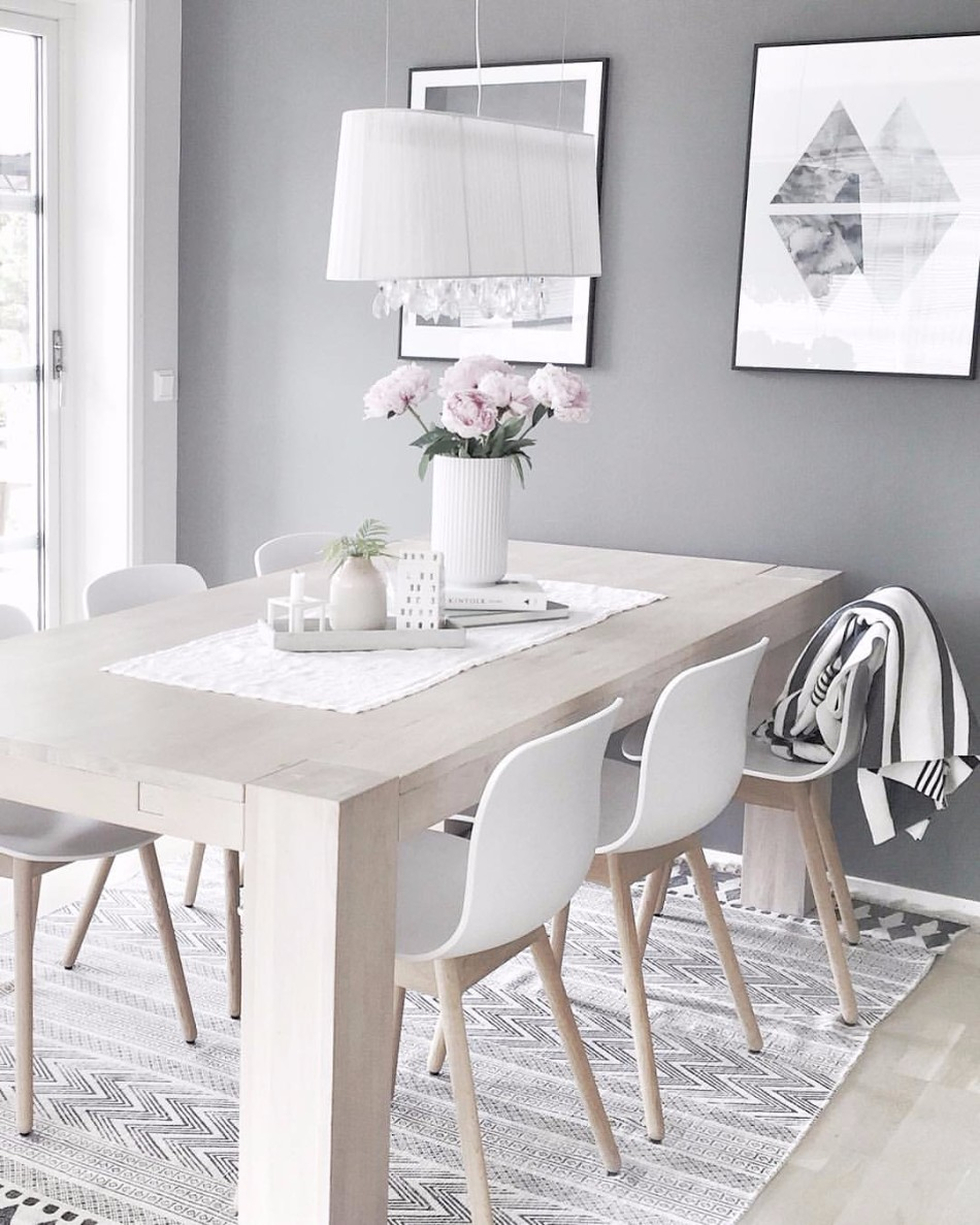 10 Brilliant Ideas Of All-White Dining Rooms