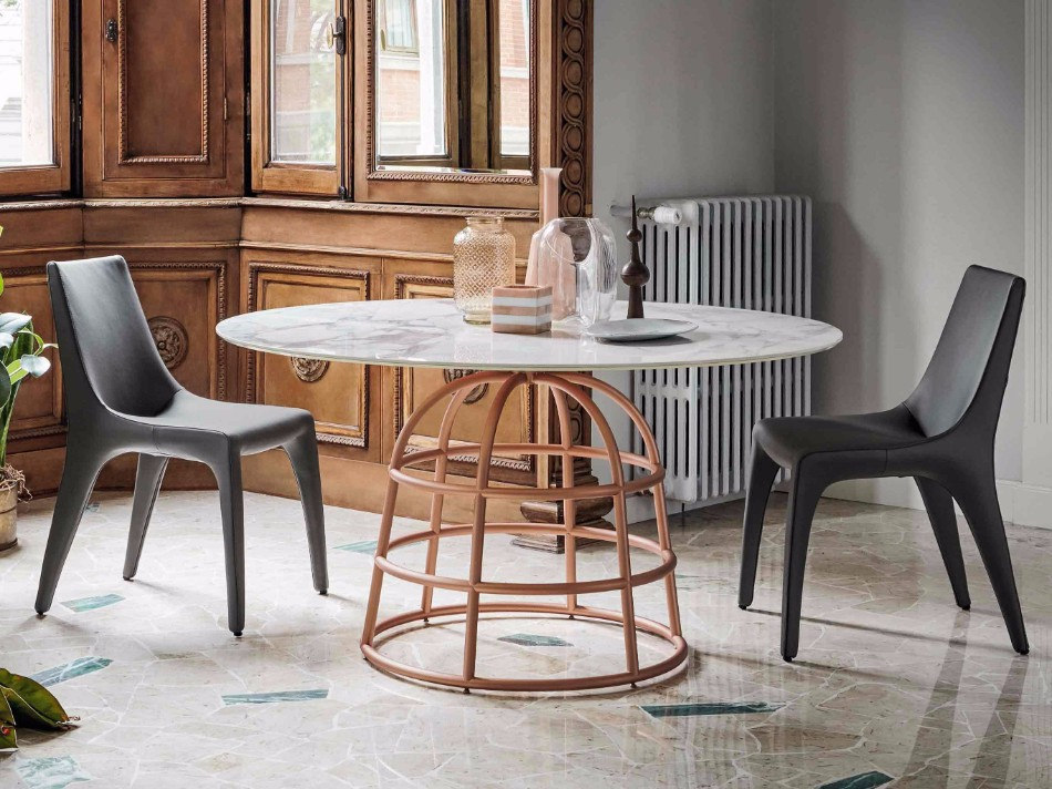 Gilles's Modern Dining Tables Rest On Wireframe-style Metal Bases | #diningtables #diningroom #thediningroom #diningarea #diningareadesign #roomdesign #diningdesign #exclusivedesign #interiordesign #product design #luxurybrands @moderndiningtables modern dining tables Gilles's Modern Dining Tables Rest On Wireframe-style Metal Bases Gilles   s Modern Dining Tables Rest On Wireframe style Metal Bases 1