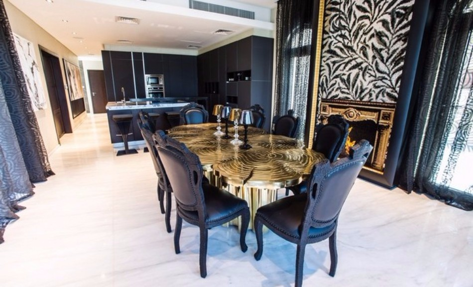 Amazing Dining Tables Choices By Top Interior Designers Worldwide | www.bocadolobo.com #moderndiningtables #diningroom #diningroomdesign #diningarea #thediningroom #luxurybrands #topinteriordesigners #famousinteriordesigners #bestinteriordesigners #luxurybrands #interiordesign #exclusivedesign @moderndiningtables top interior designers Amazing Dining Rooms By Top Interior Designers Worldwide neat 3