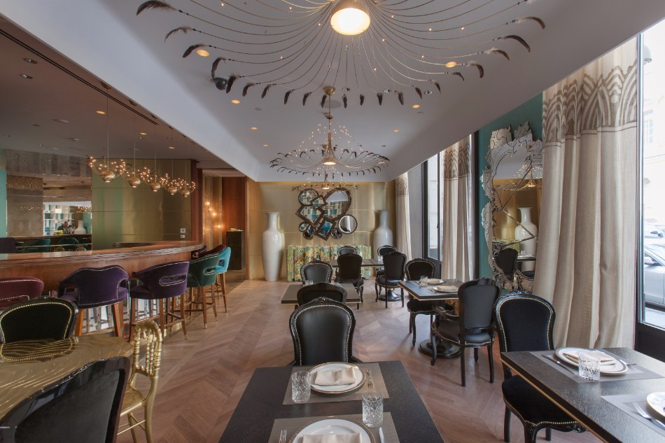 A Special Dining Table at Cococo Restaurant in Russia | www.bocadolobo.com #luxuryrestaurant #russia #diningexperience #interiordesign #interiordesigners #luxurybrands #luxuryfurniture #expensiverestaurants #moderndiningtables #luxurytables @moderndiningtables