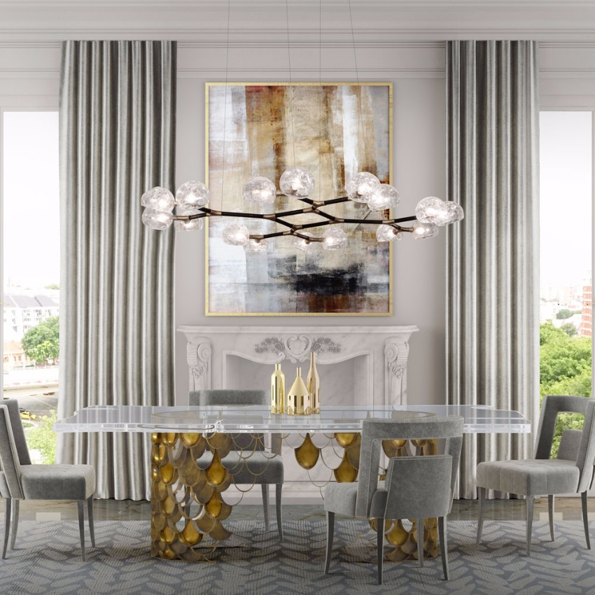 modern dining tables Modern Dining Tables Top Trends On Pinterest Rectangular Koi Brabbu