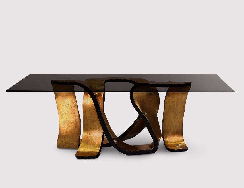 top interior designers Top Interior Designers Dining Tables Choices for Luxury projects Ribbon dining table