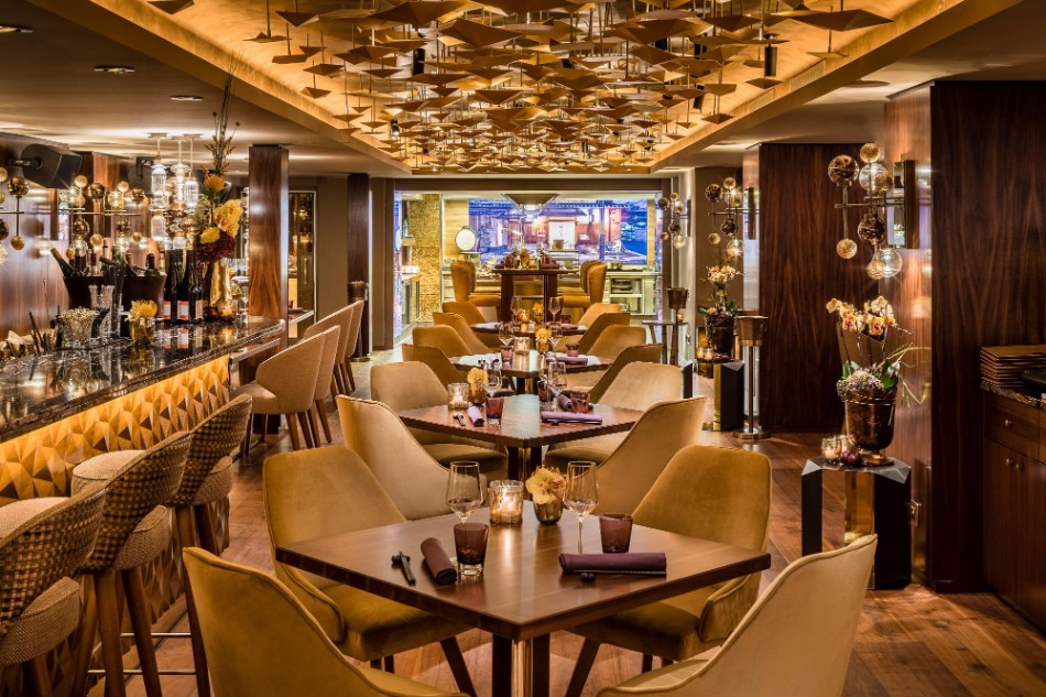The stunning interior design of luxury restaurant