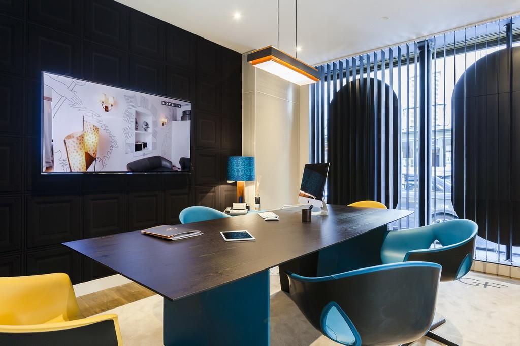 top interior designer 10 Beautiful Dining Room Ideas by Top Interior Designer Gérard Faivre blue