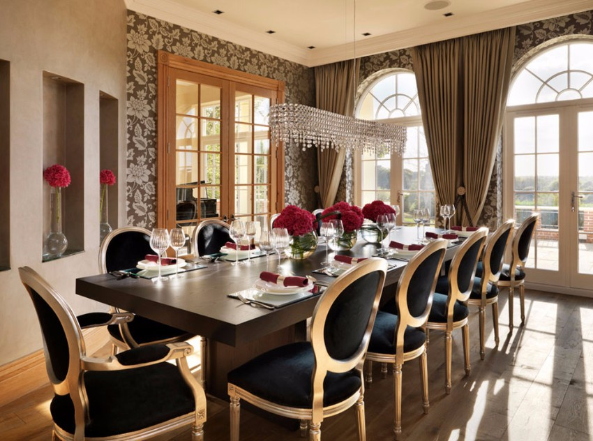 top interior designers 10 Brilliant Gold Dining Rooms by World's Top Interior Designers country house dinign room