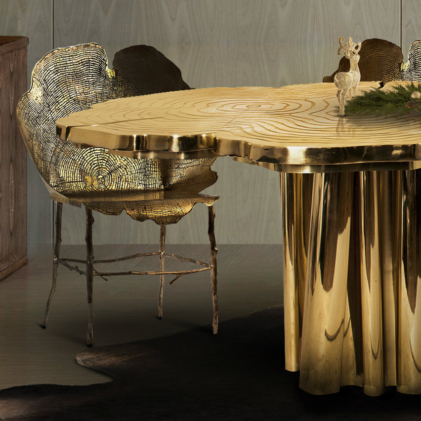10 Brilliant Gold Dining Rooms by World's Top Interior Designers top interior designers 10 Brilliant Gold Dining Rooms by World's Top Interior Designers fortuna press covers christmasclose