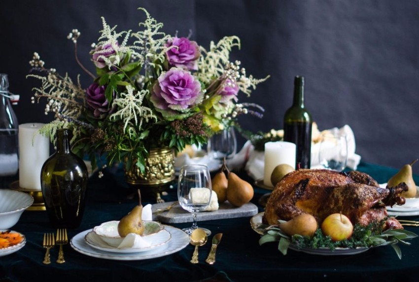 thanksgiving The Best Dining Table Décor Ideas For Thanksgiving golden cutlery
