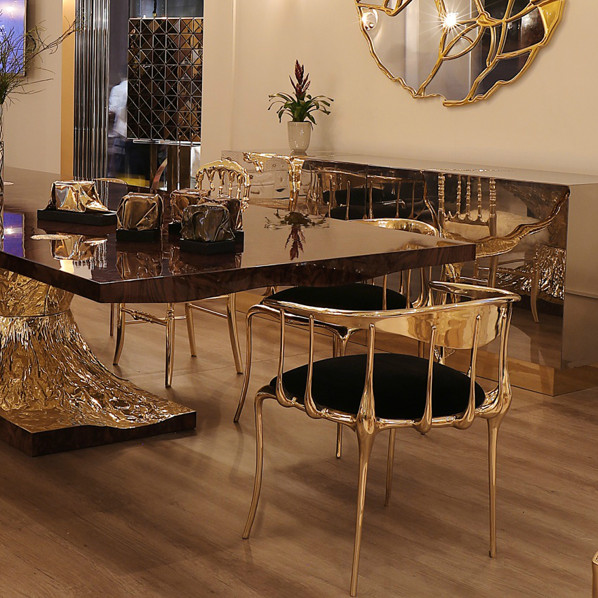 10 Brilliant Gold Dining Rooms by World's Top Interior Designers top interior designers 10 Brilliant Gold Dining Rooms by World's Top Interior Designers metamorphosis tableclose