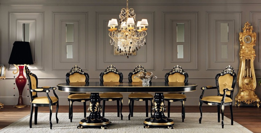 top interior designers 10 Brilliant Gold Dining Rooms by World's Top Interior Designers modenese gastone