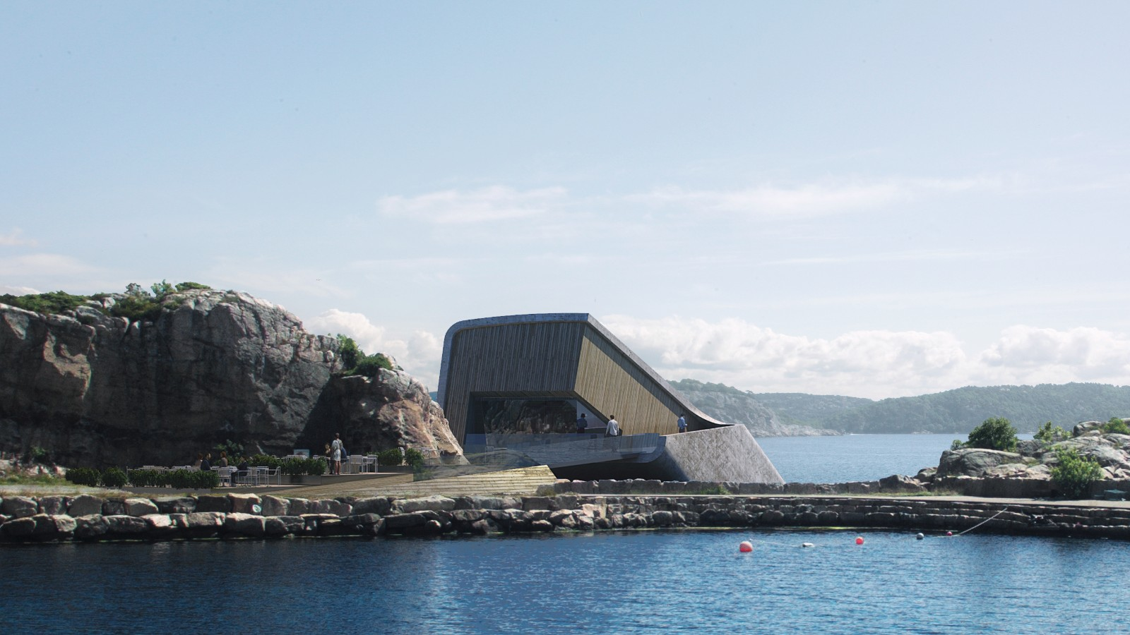 underwater restaurant Norwegian Architecture Firm Reveals Project for First Underwater Restaurant 1 Norwegian Architecture Firm Reveals Project for First Underwater Restaurant