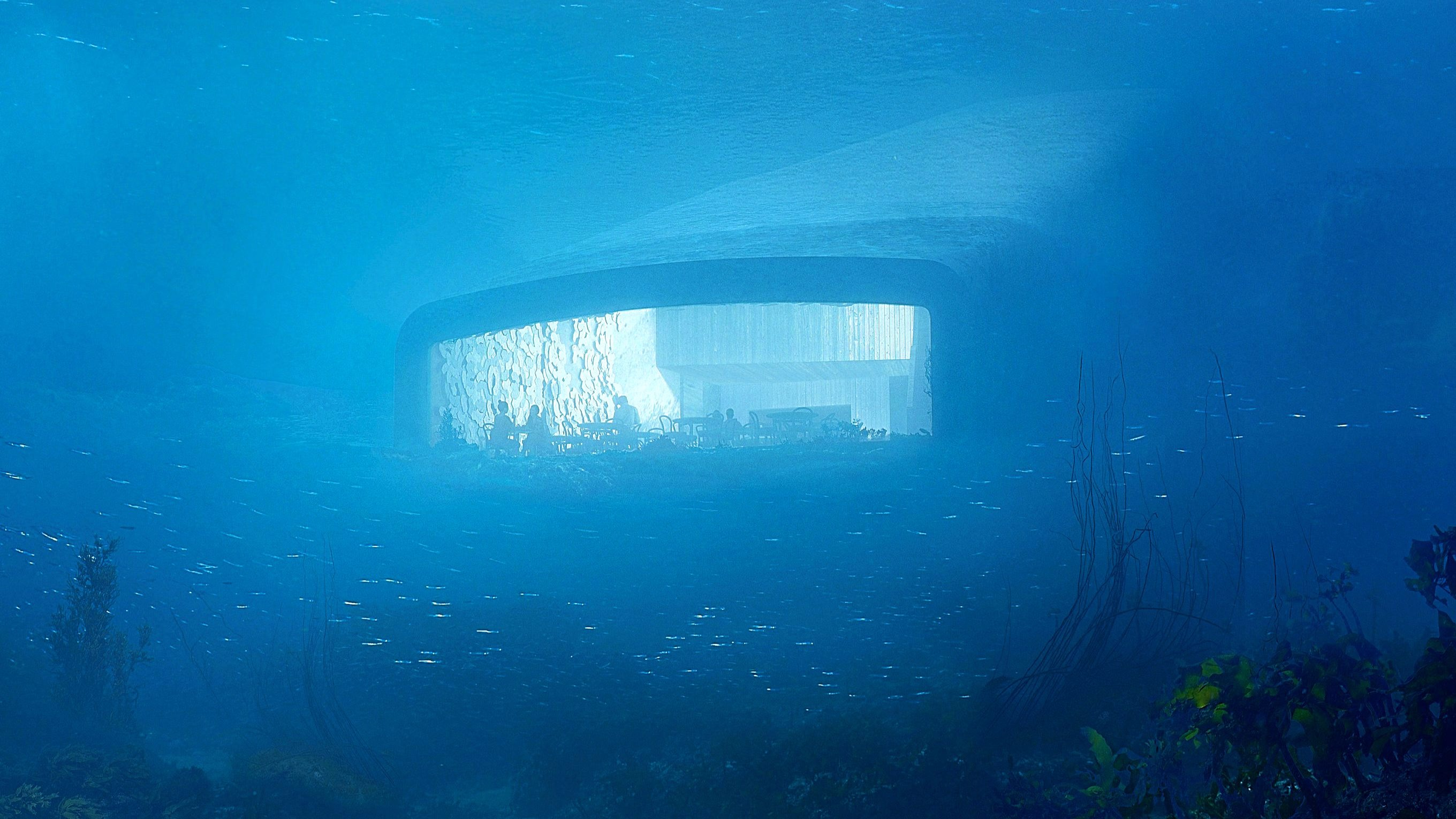 underwater restaurant Norwegian Architecture Firm Reveals Project for First Underwater Restaurant 2 Norwegian Architecture Firm Reveals Project for First Underwater Restaurant