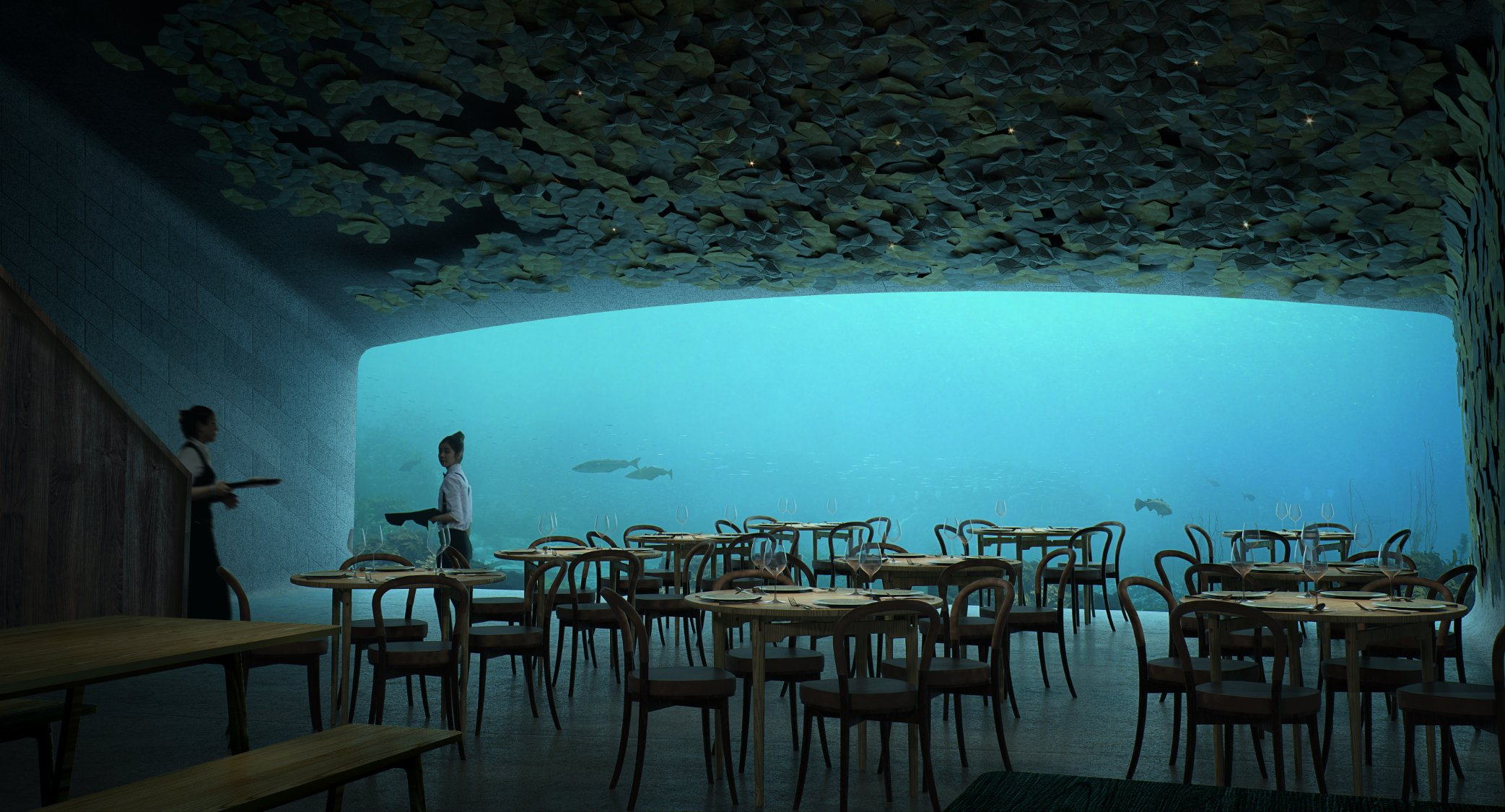 underwater restaurant Norwegian Architecture Firm Reveals Project for First Underwater Restaurant 3 Norwegian Architecture Firm Reveals Project for First Underwater Restaurant