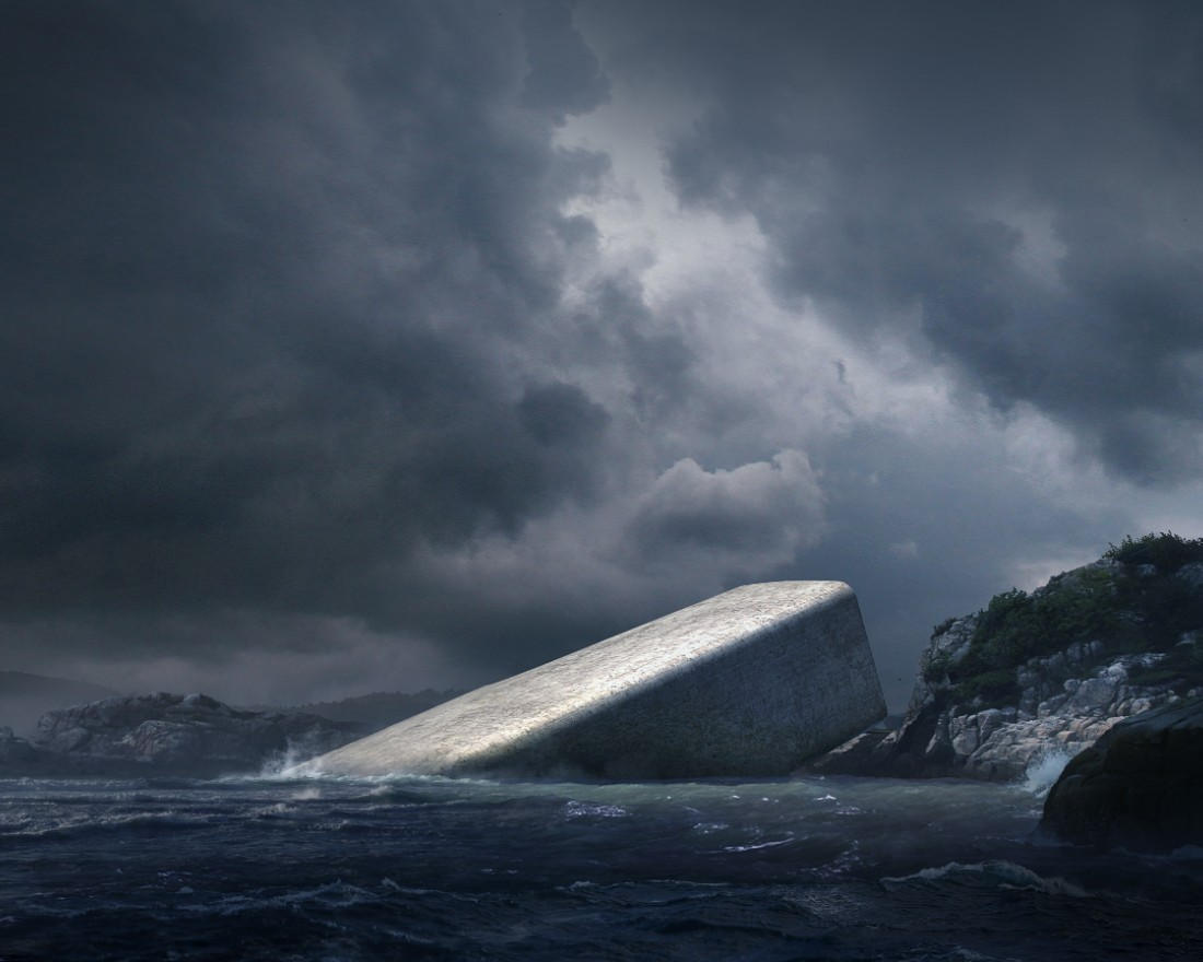 underwater restaurant Norwegian Architecture Firm Reveals Project for First Underwater Restaurant 4 Norwegian Architecture Firm Reveals Project for First Underwater Restaurant