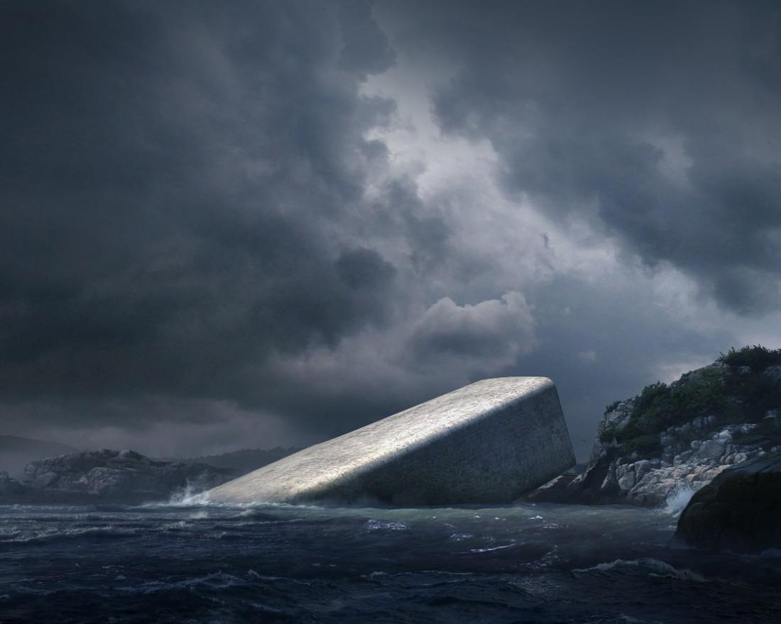 underwater restaurant Norwegian Architecture Firm Reveals Project for First Underwater Restaurant 4 Norwegian Architecture Firm Reveals Project for First Underwater Restaurant
