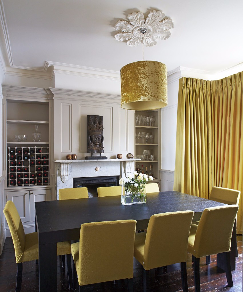 top interior designers 10 Brilliant Gold Dining Rooms by World's Top Interior Designers black table