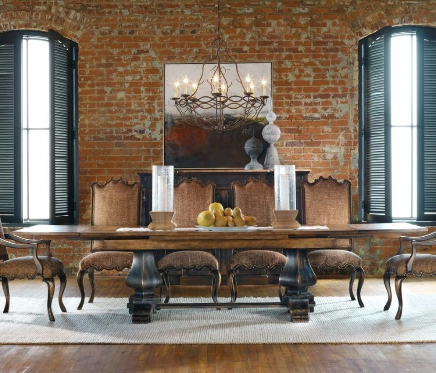 rustic dining table 10 Rustic Dining Tables That Can Fit A Luxurious Modern Design hooker