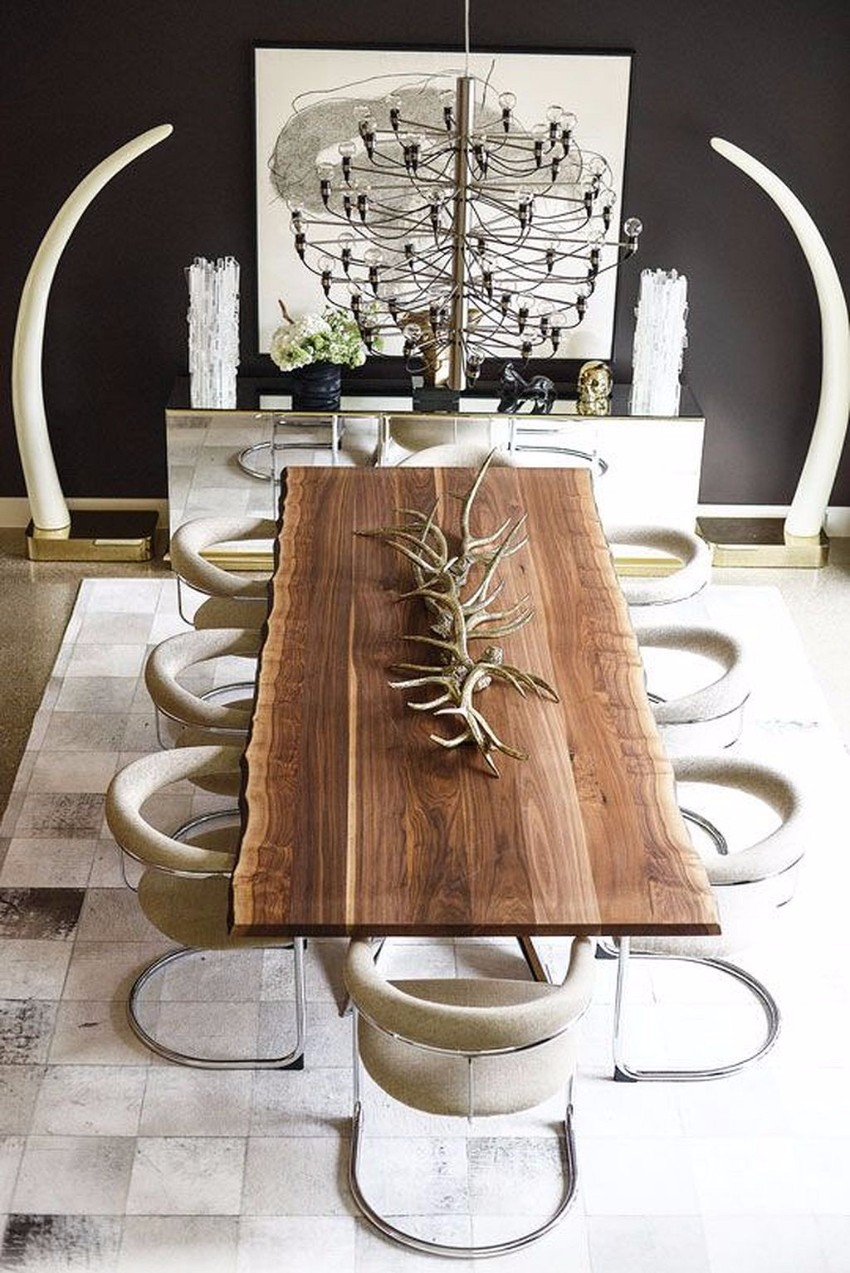 rustic dining table 10 Rustic Dining Tables That Can Fit A Luxurious Modern Design modern rustic
