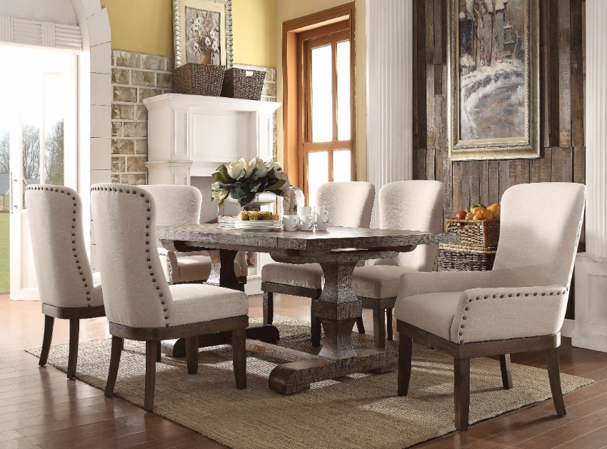 rustic dining table 10 Rustic Dining Tables That Can Fit A Luxurious Modern Design rustic wood
