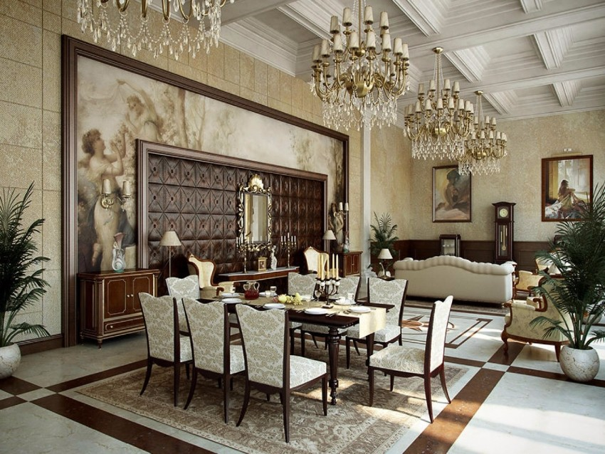 10 Brilliant Gold Dining Rooms by World's Top Interior Designers top interior designers 10 Brilliant Gold Dining Rooms by World's Top Interior Designers traditional cream