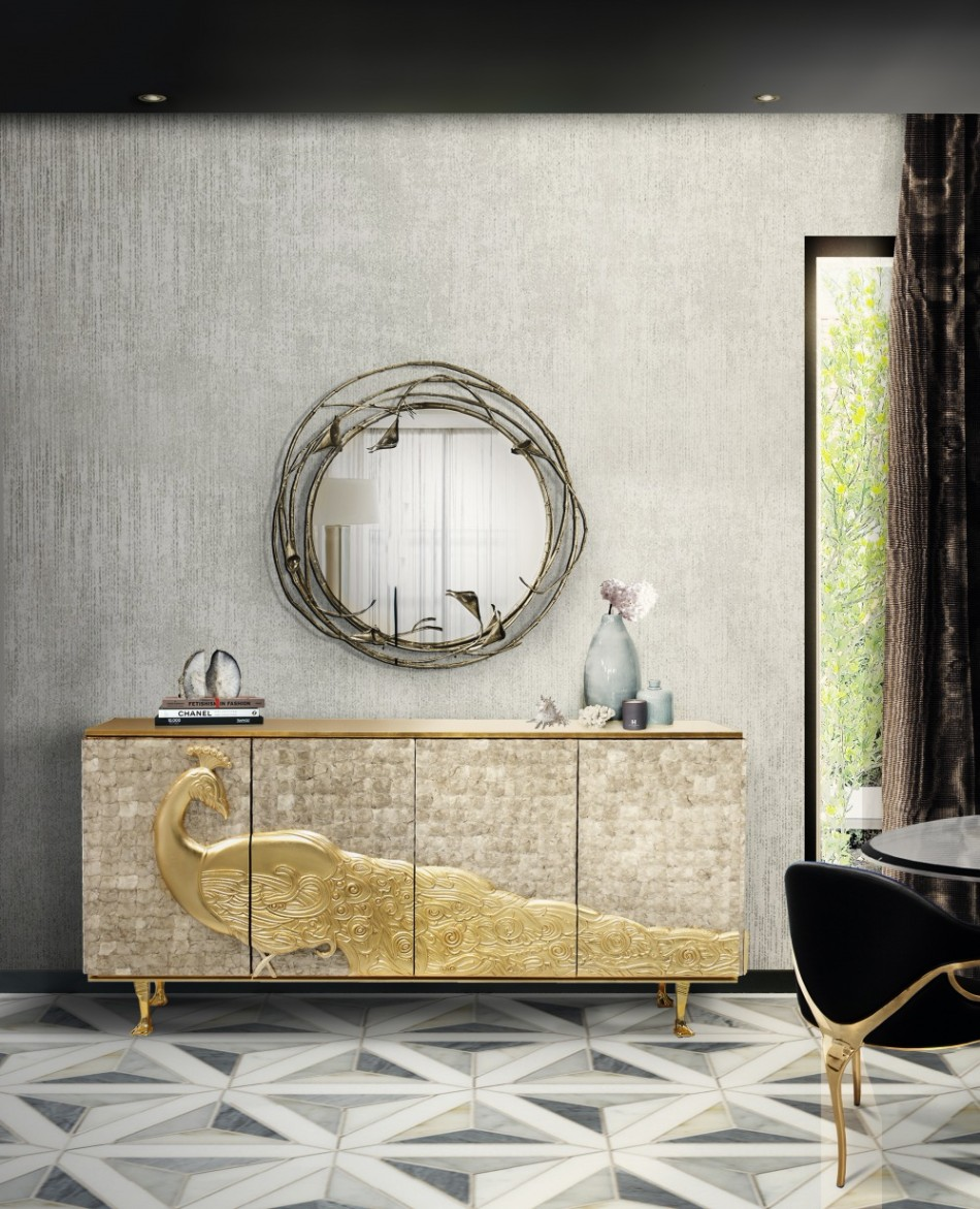 8 Luxury Wall Mirrors for Your Dining Room | www.bocadolobo.com #moderndiningtables #diningroom #diningarea #diningdesign #mirror #wallmirrors #interiordesign #exclusivedesign @moderndiningtables