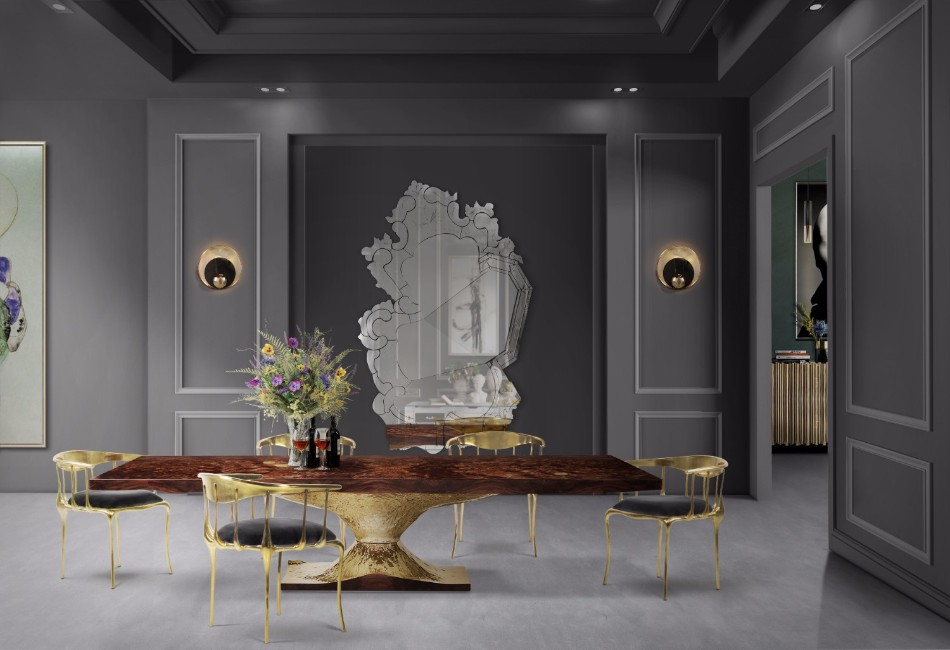 8 Luxury Wall Mirrors for Your Dining Room | www.bocadolobo.com #moderndiningtables #diningroom #diningarea #diningdesign #mirror #wallmirrors #interiordesign #exclusivedesign @moderndiningtables wall mirror 8 Luxury Wall Mirrors for Your Dining Room 8 Luxury Wall Mirrors for Your Dining Room 2