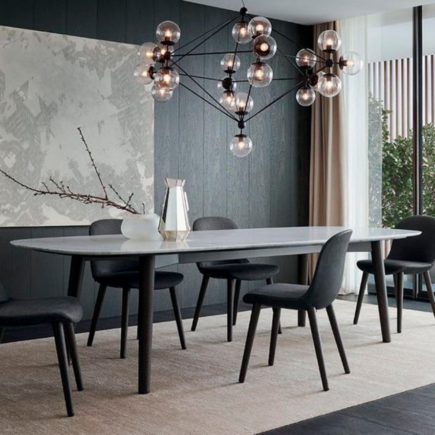 modern decor , dining room furniture modern dining table Let Your Modern Dining Table Brings Up Your Appetite 60 Modern Dining Room Design Ideas5