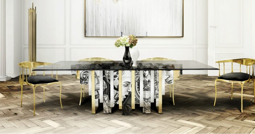 contemporary dining table, contemporary architecture  contemporary dining tables Furnish Your Dream Home With Contemporary Dining Tables Contemporary Dining Room Ideas to Inspire You boca do lobo