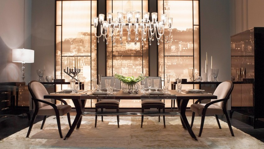 dining tables Trendy Dining Tables For A Modern Lifestyle Rectangular dining table Brunello Fendi