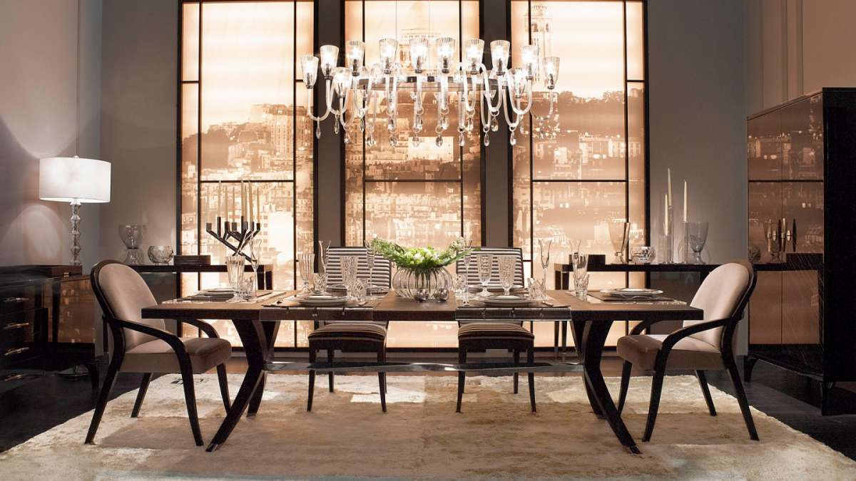 dining tables, modern chairs