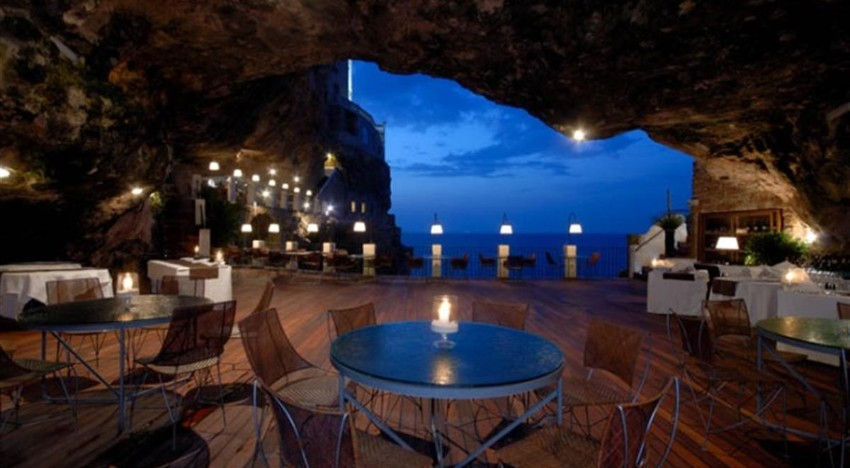 dining experiences Luxury Dining Experiences: An Italian Restaurant In A Cave New York Hotel Design by Gerner Kronick and Valcarcel Architects