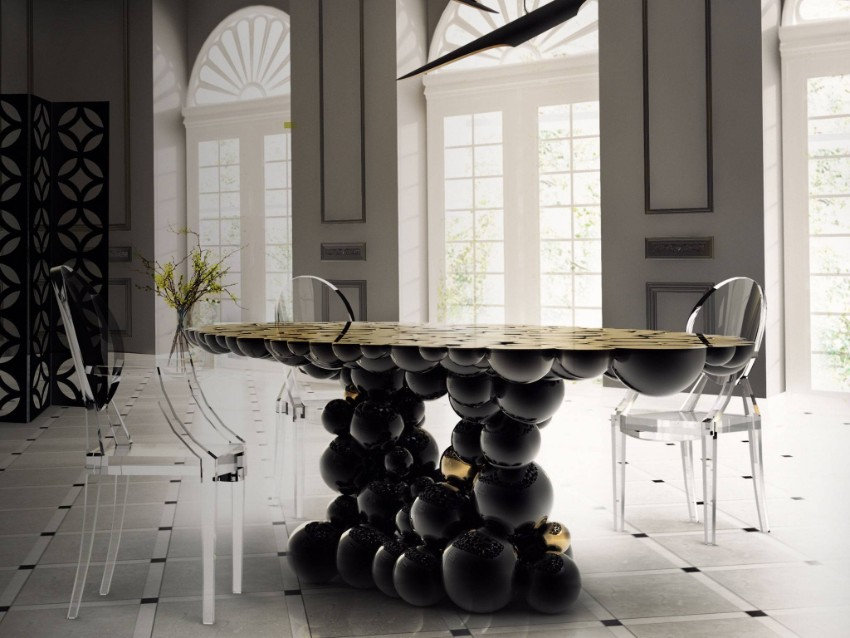 luxury chairs designer tables Designer Tables For A Gorgeous Home Table Trends For Your Dining Tables 5