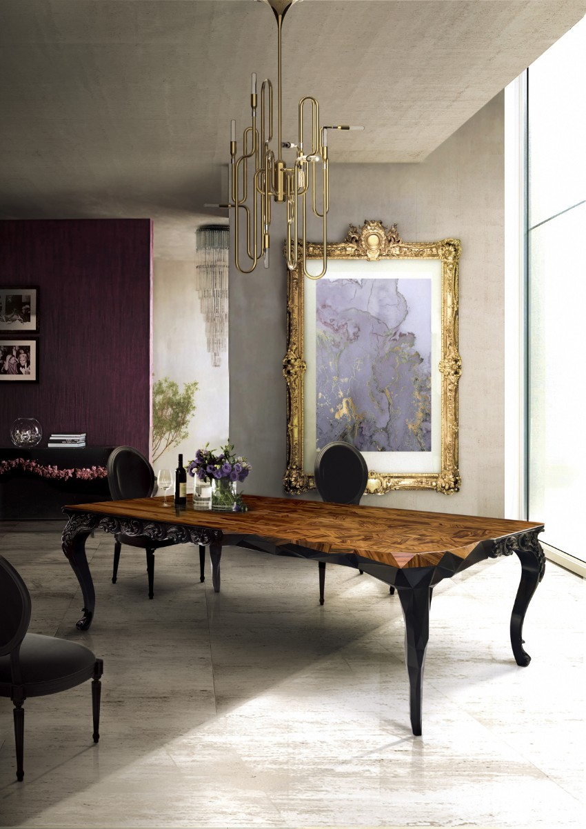 modern dining table wooden dining tables Intensify The Splendour Of Your Living With Wooden Dining Tables royal table Boca Do Lobo 1 1