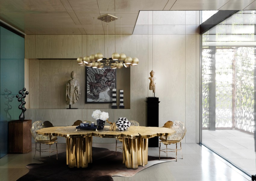 metal dining tables 10 Metal Dining Tables for a Contemporary and Luxurious Dining Room 1 Fortuna Dining Table by Boca do Lobo