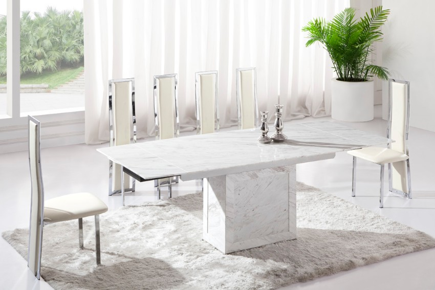 The Brightest the Better: 10 White dining tables for your dining room White dining tables The Brightest the Better: 10 White dining tables for your dining room 1